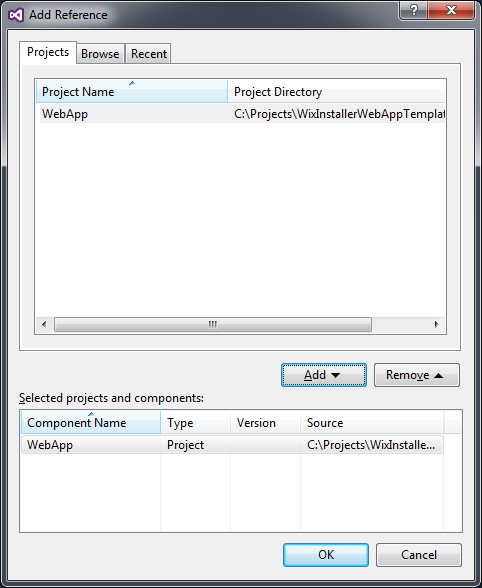 Add Project Reference